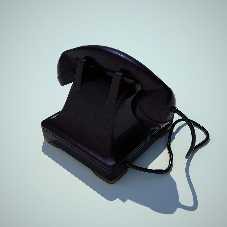 téléphone vieux royalty-free 3d model - Preview no. 5