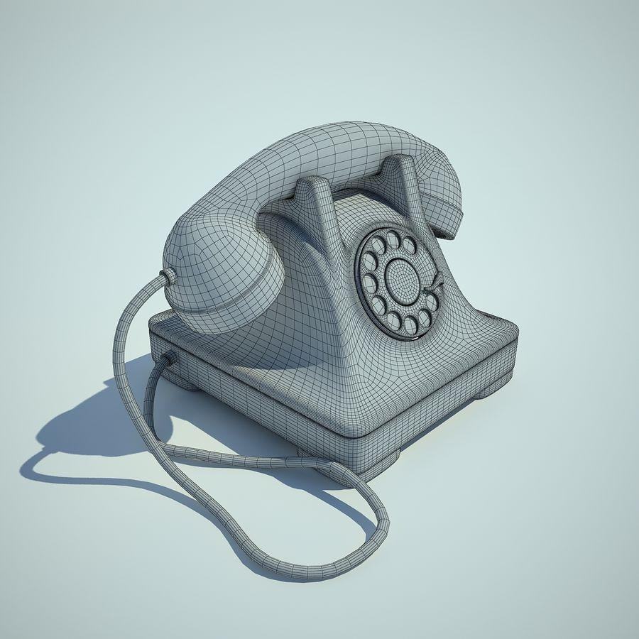 téléphone vieux royalty-free 3d model - Preview no. 4