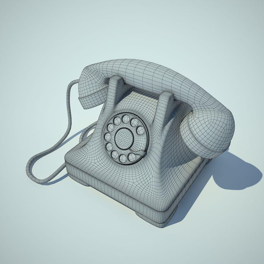 téléphone vieux royalty-free 3d model - Preview no. 2