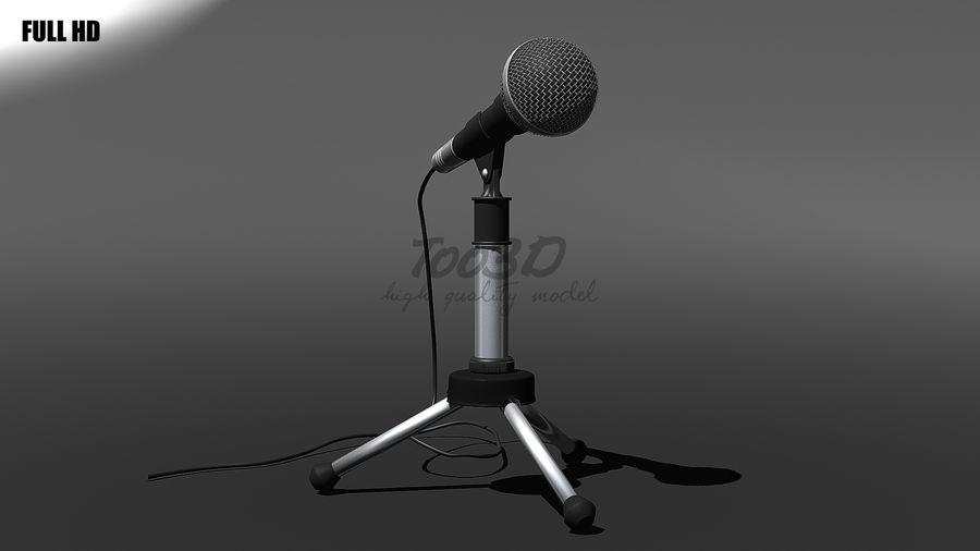 Mikrofon royalty-free 3d model - Preview no. 8