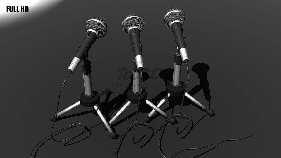 Mikrofon royalty-free 3d model - Preview no. 2