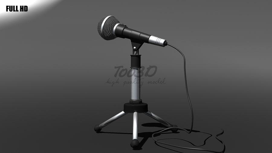 Mikrofon royalty-free 3d model - Preview no. 3