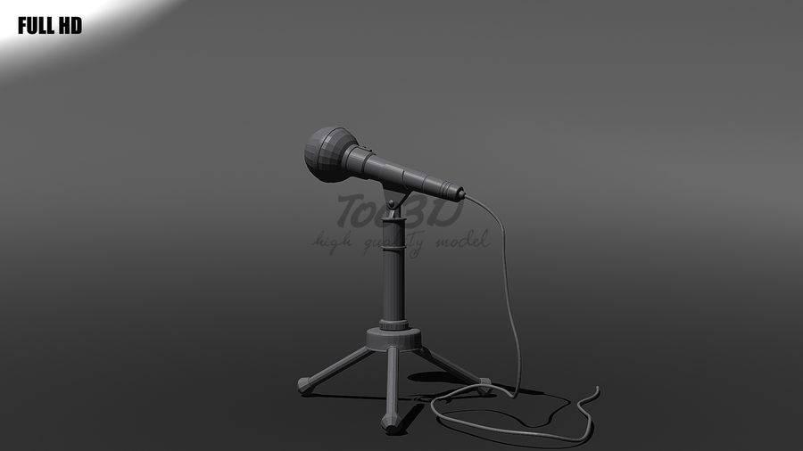 Mikrofon royalty-free 3d model - Preview no. 11
