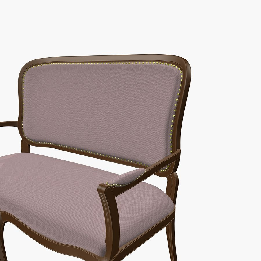 Classic Bench+Armchair royalty-free 3d model - Preview no. 10