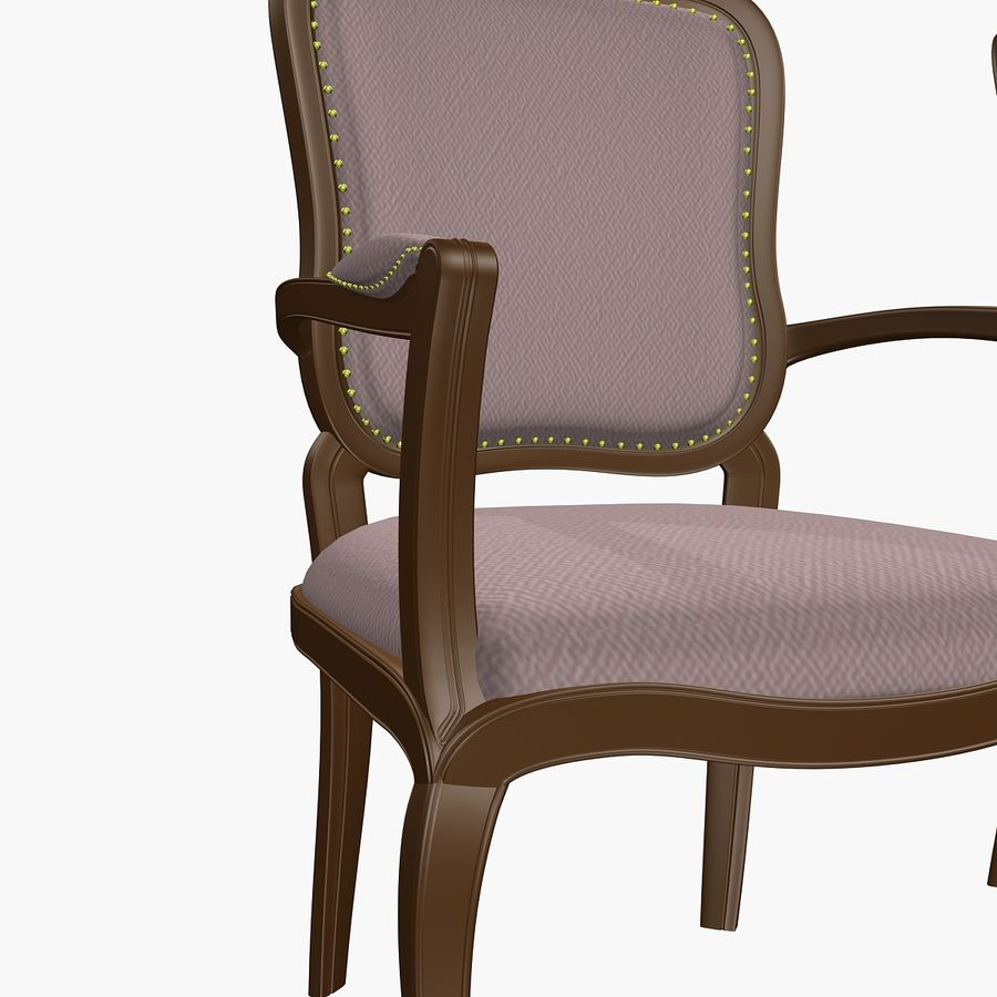 Classic Bench+Armchair royalty-free 3d model - Preview no. 7