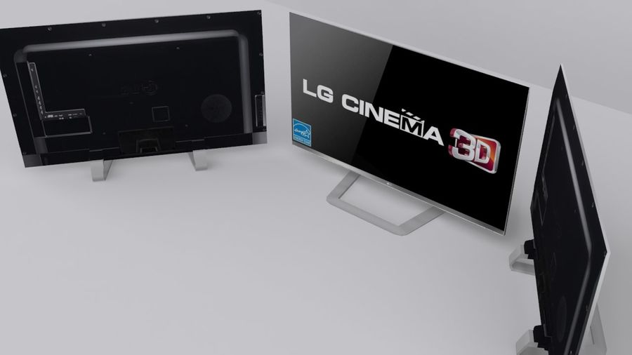 LG 55 Led Tv royalty-free 3d model - Preview no. 3