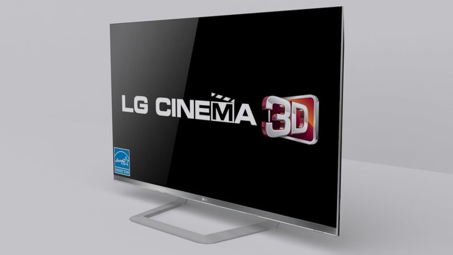 LG 55 Led Tv royalty-free 3d model - Preview no. 1