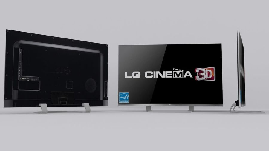 LG 55 Led Tv royalty-free 3d model - Preview no. 4