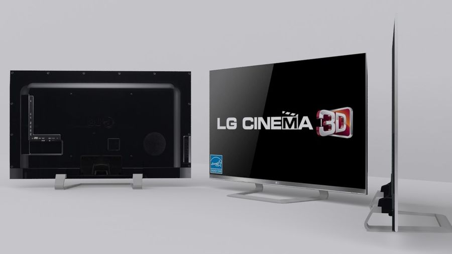 LG 55 Led Tv royalty-free 3d model - Preview no. 2