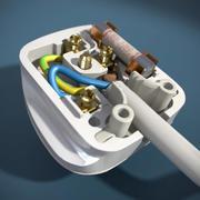 Brytyjska wtyczka elektryczna 3d model