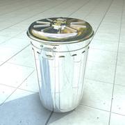Metal Trashcan 3d model