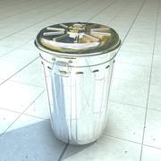 Metalen prullenbak 3d model