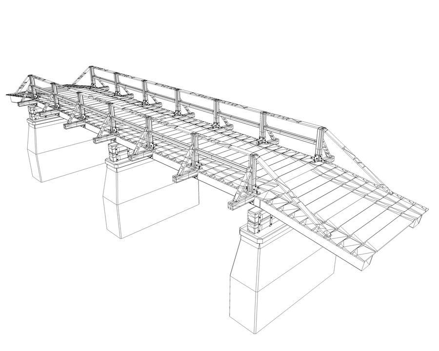 bridge royalty-free 3d model - Preview no. 10