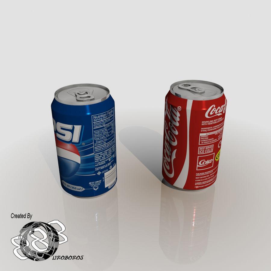 Boire des canettes royalty-free 3d model - Preview no. 4