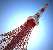 Токийская башня 3d model
