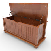 Storage Bench with Cushion 02 3d model