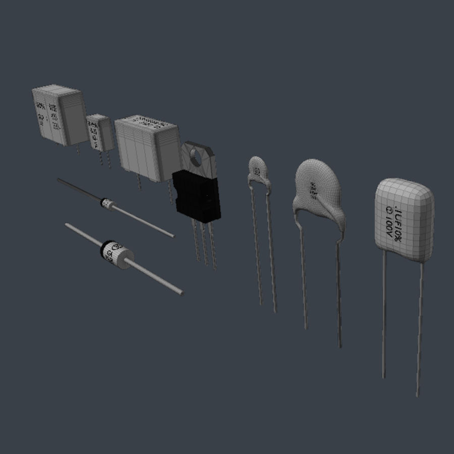 Electronic Components royalty-free 3d model - Preview no. 8
