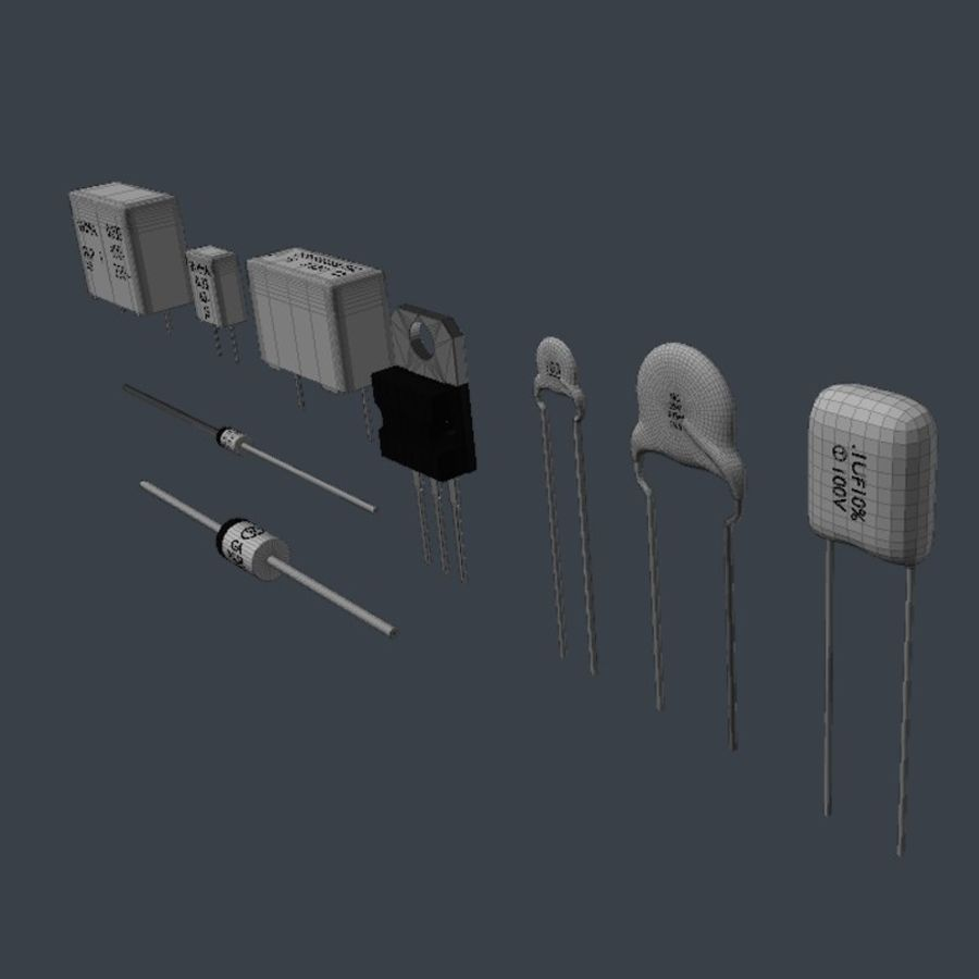 Componenti elettronici royalty-free 3d model - Preview no. 8