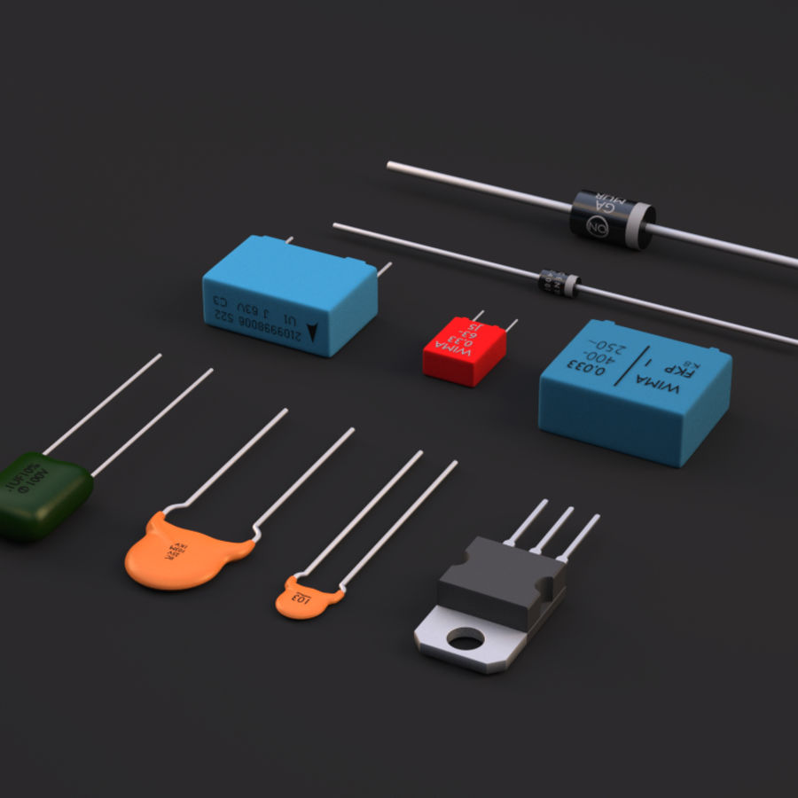 Electronic Components royalty-free 3d model - Preview no. 7