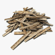 Wooden Boards Trash 3 3d model