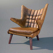 Hans Wegner Sessel PP19 3d model