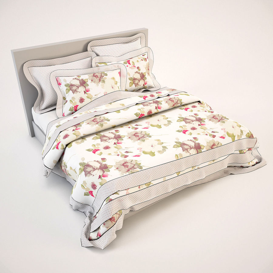 Bedcloth(19) royalty-free 3d model - Preview no. 3