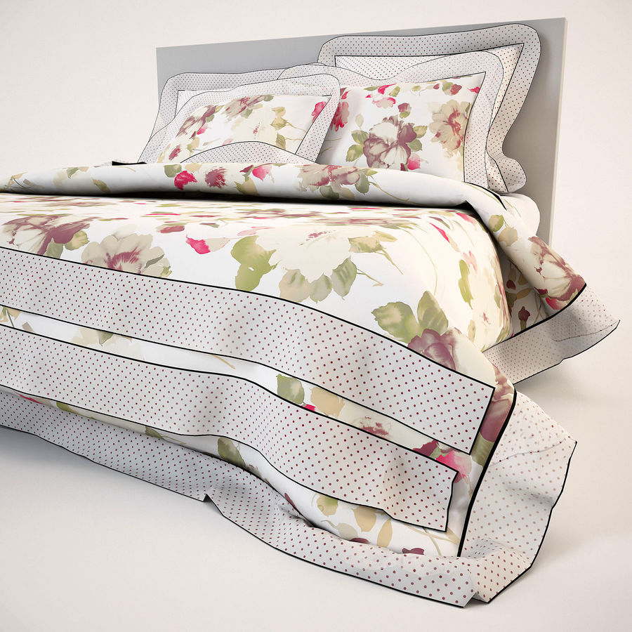 Bedcloth(19) royalty-free 3d model - Preview no. 12