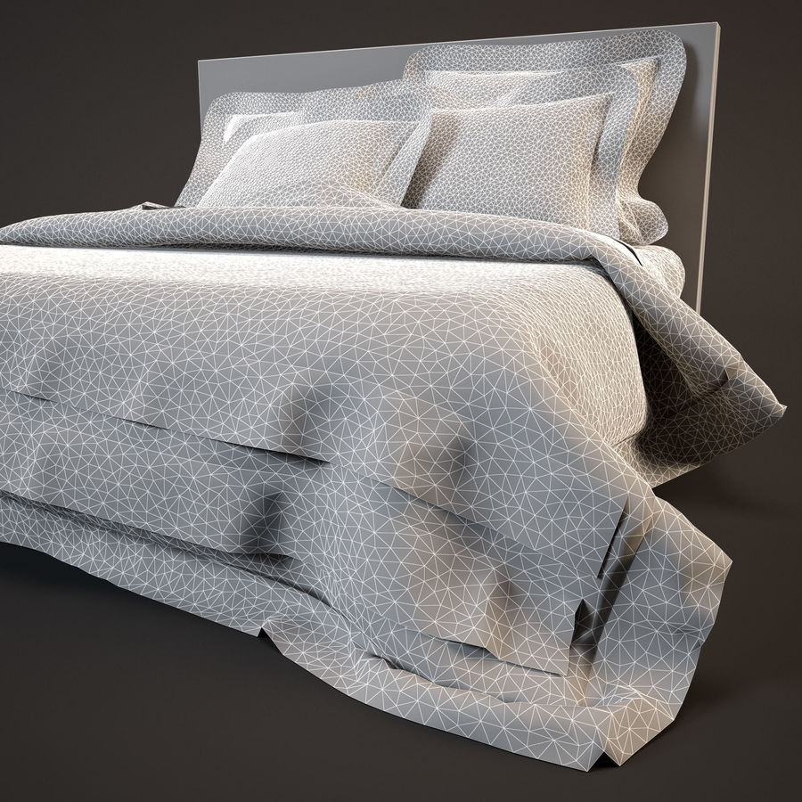 Bedcloth(19) royalty-free 3d model - Preview no. 13