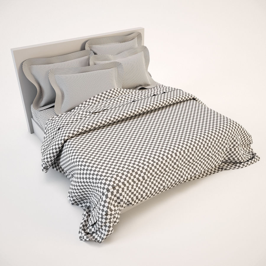 Bedcloth(19) royalty-free 3d model - Preview no. 5