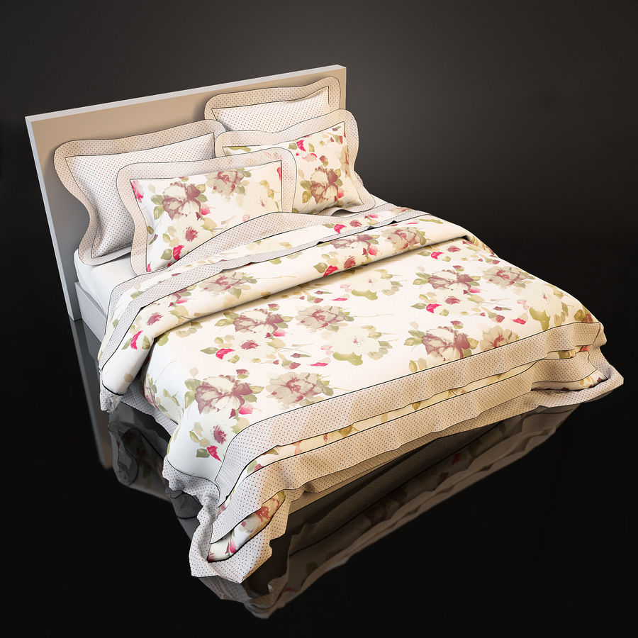 Bedcloth(19) royalty-free 3d model - Preview no. 2