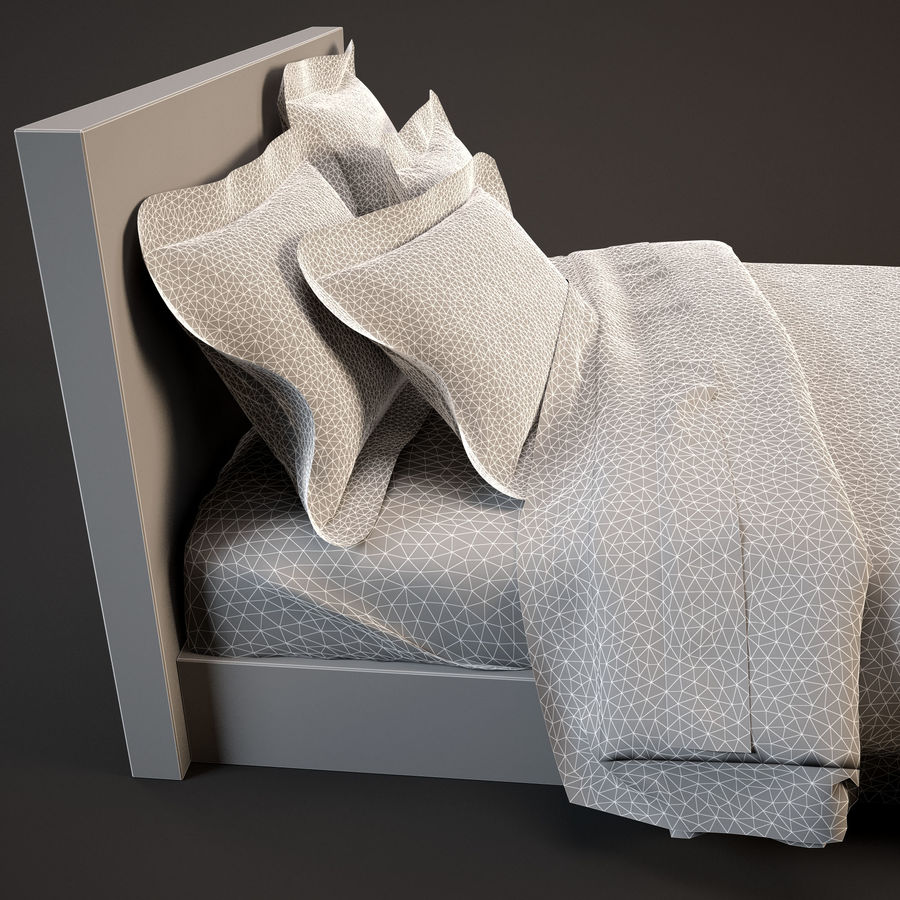 Bedcloth(19) royalty-free 3d model - Preview no. 9