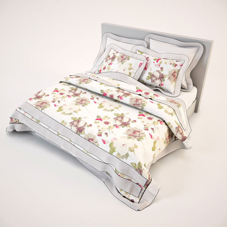 Bedcloth(19) royalty-free 3d model - Preview no. 6