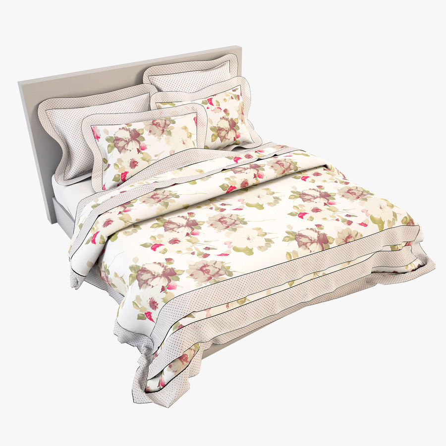 Bedcloth(19) royalty-free 3d model - Preview no. 1