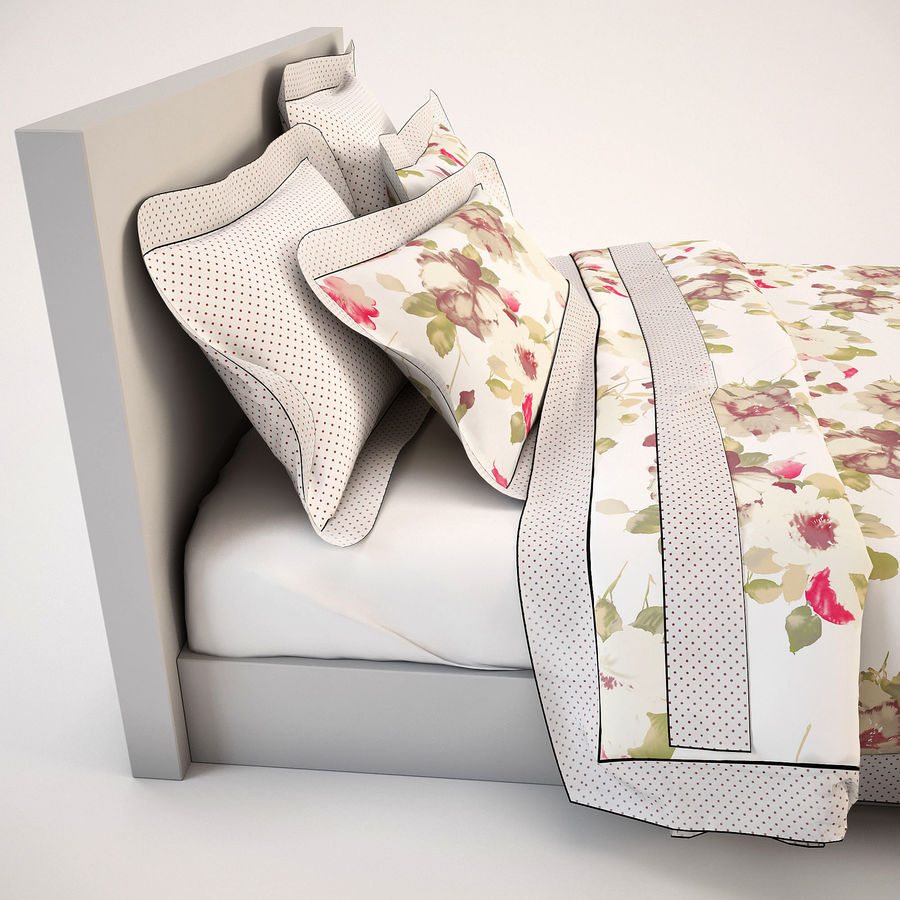 Bedcloth(19) royalty-free 3d model - Preview no. 8