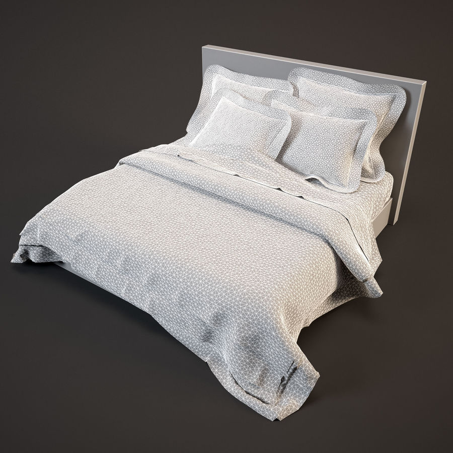 Bedcloth(19) royalty-free 3d model - Preview no. 7