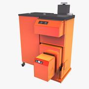 Modern Wood Chipper and Pellet Boiler 3d model