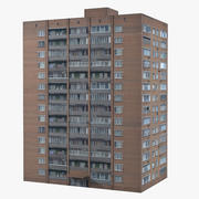 City Brick Building 3d model