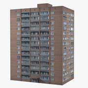 City Brick Building 3d model