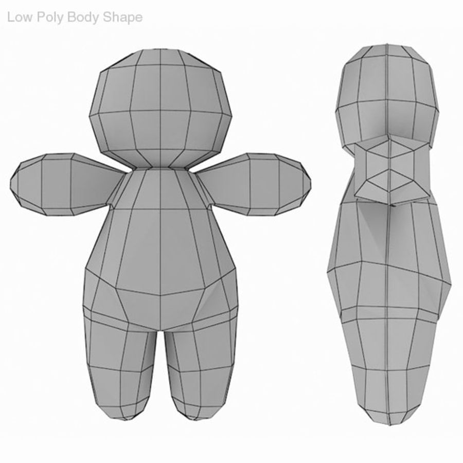 Voodoo Doll royalty-free 3d model - Preview no. 3
