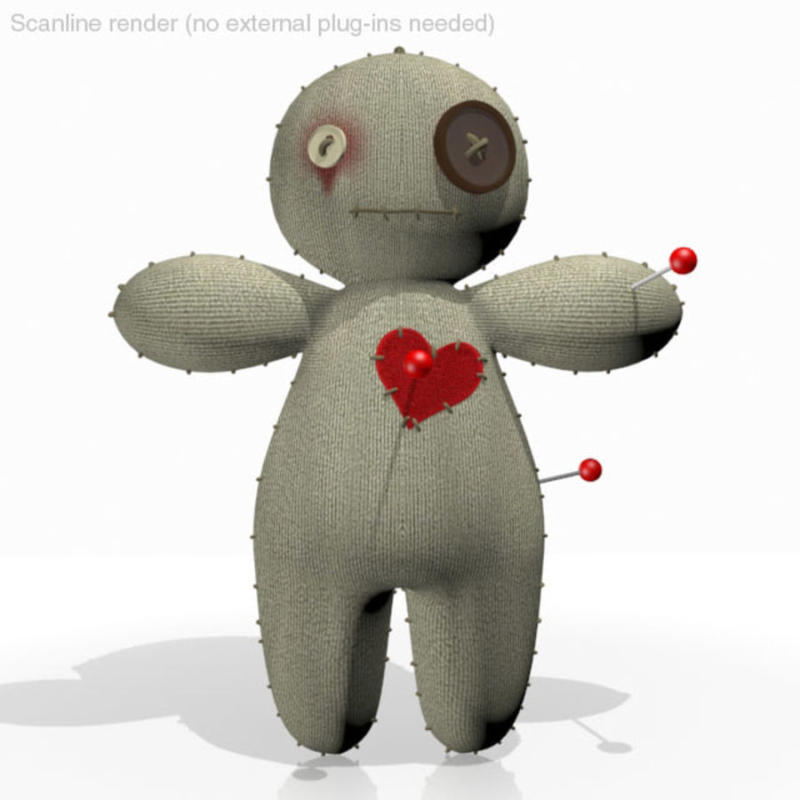 Voodoo Doll royalty-free 3d model - Preview no. 10