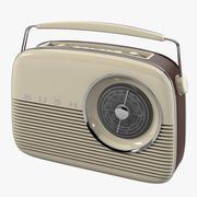 Bush Retro Radio 3d model