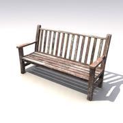 Скамейке в парке 3d model