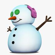 Monigote de nieve modelo 3d