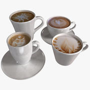 Coffee Art Cups 3d model