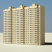 Edificio civil alto modelo 3d