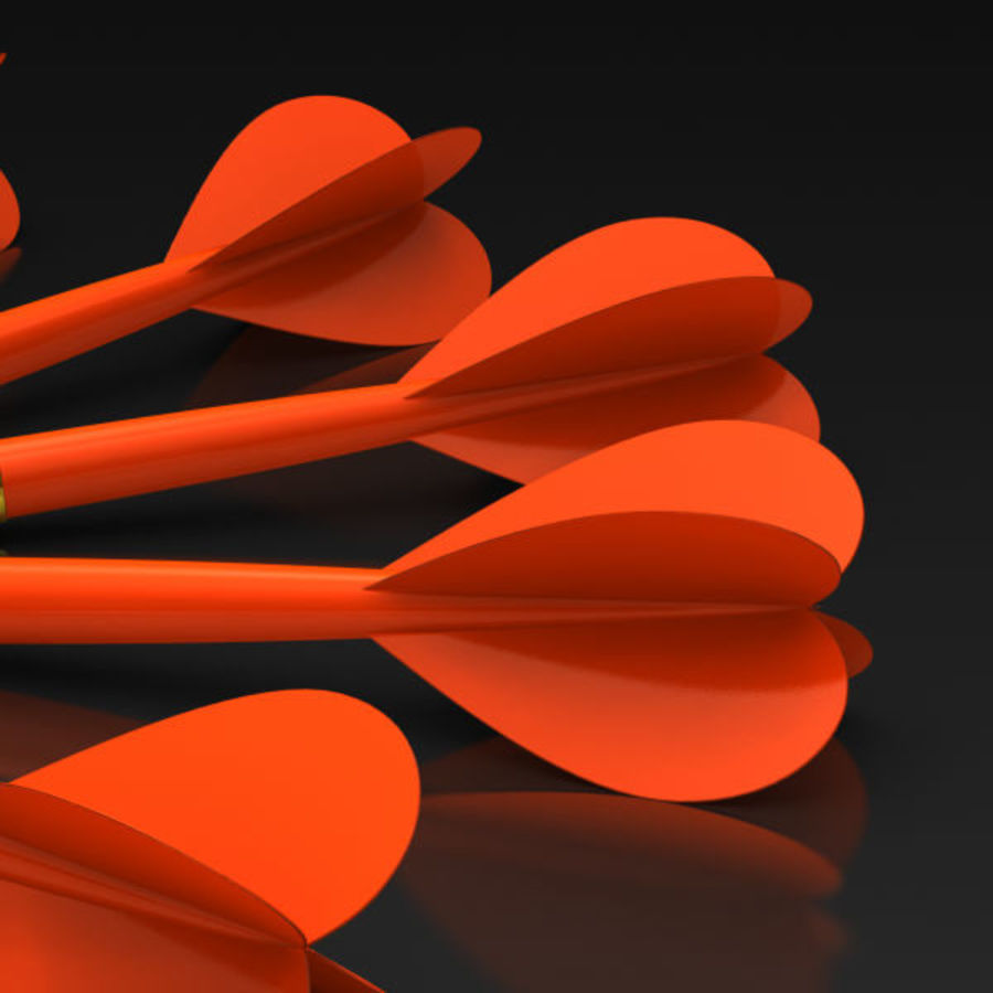 Red Dart Arrow royalty-free 3d model - Preview no. 5