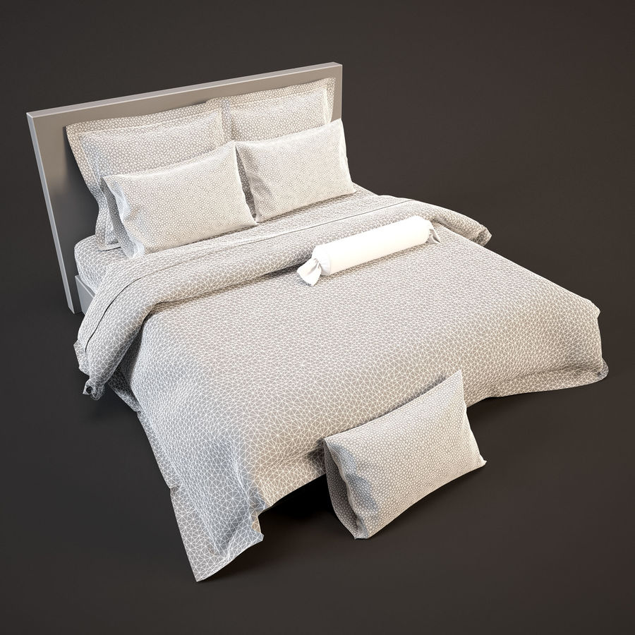Bedcloth(24) royalty-free 3d model - Preview no. 4