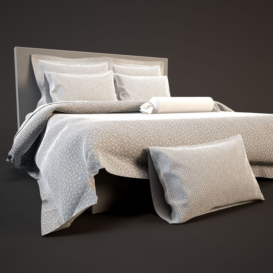 Bedcloth(24) royalty-free 3d model - Preview no. 13