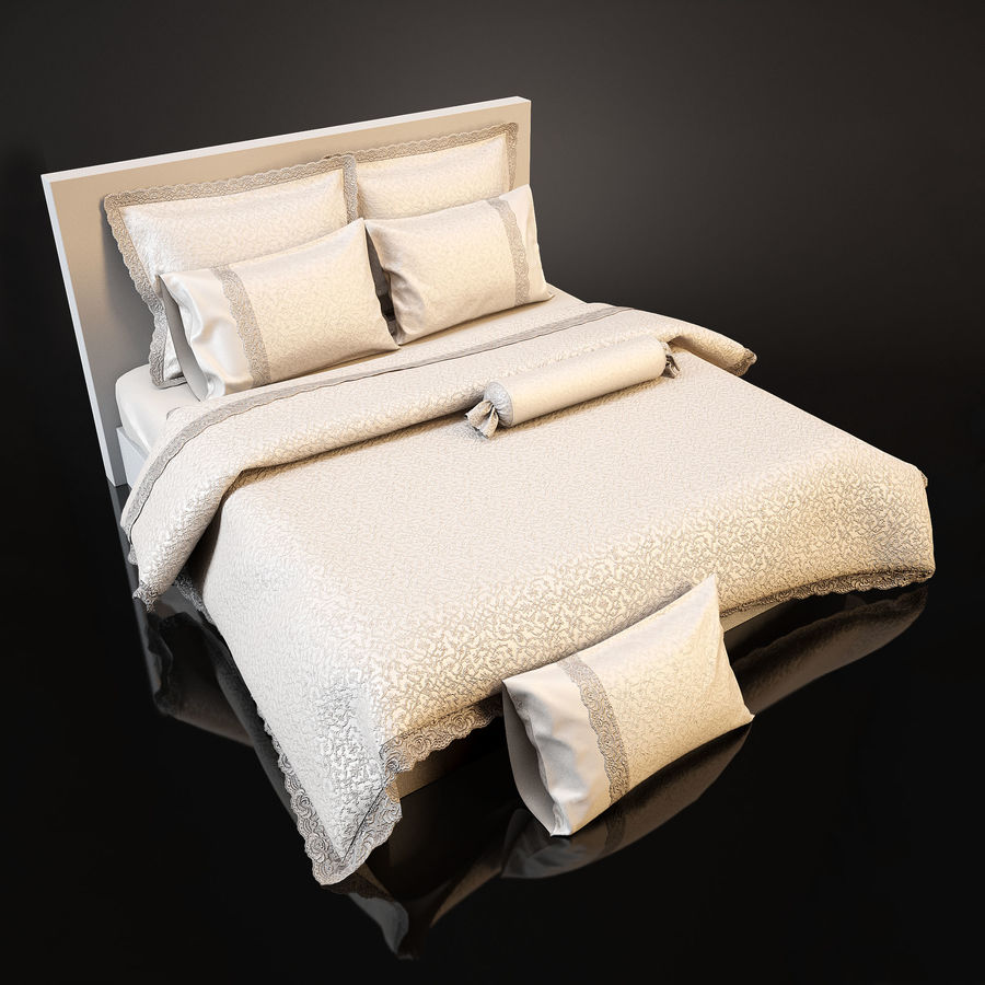 Bedcloth(24) royalty-free 3d model - Preview no. 2
