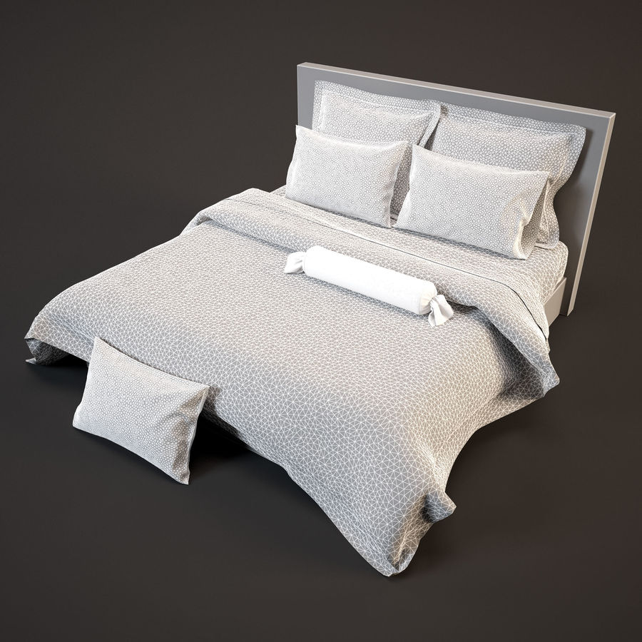 Bedcloth(24) royalty-free 3d model - Preview no. 7